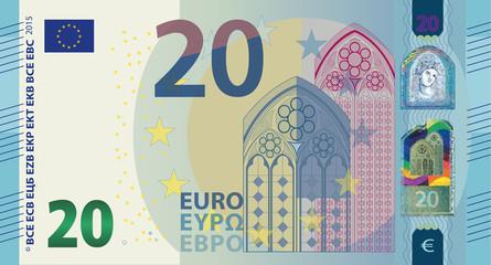 New Euro 20 Vector