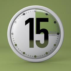 Tempo, orologio, timer, cronometro, 15 minuti
