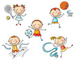 Kids going in for sport - 78766736