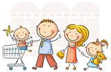Fototapety Family shopping