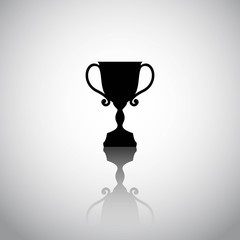 Trophy cup isolated on a white background