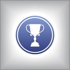 Trophy cup in a circle.Icon vector designe