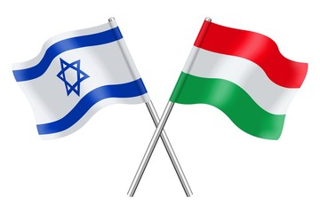 Flags: Israel and Hungary