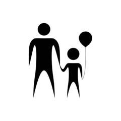 Parent and child holding hands together. Symbolic illustration