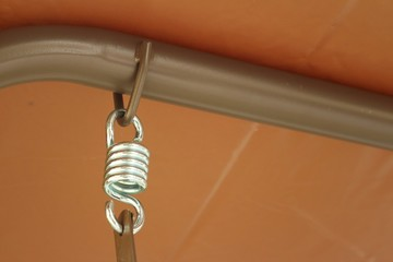 Spring hanger with a rope at the park