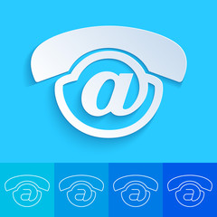 Clean and creative contact us button - Voicemail icon