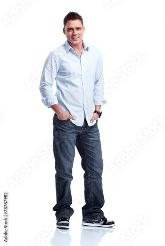 canvas print picture Young handsome man.