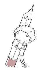 niño con lápiz