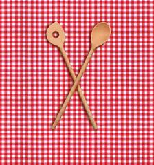 Kochlöffel auf Karotischdecke