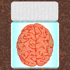 brain in a glass jar
