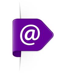 Email - Purple Arrow Sticker with Shadow