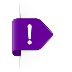 Exclamation sign - Purple Arrow Sticker with Shadow