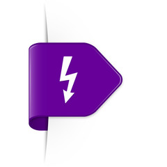 Lightning arrow - Purple Arrow Sticker with Shadow