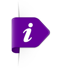 i - Purple Arrow Sticker with Shadow