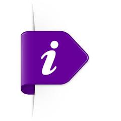 i - Purple Arrow Sticker with Shadow