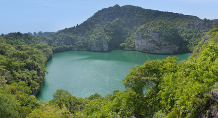 view of the lagoon on the island in Thailand