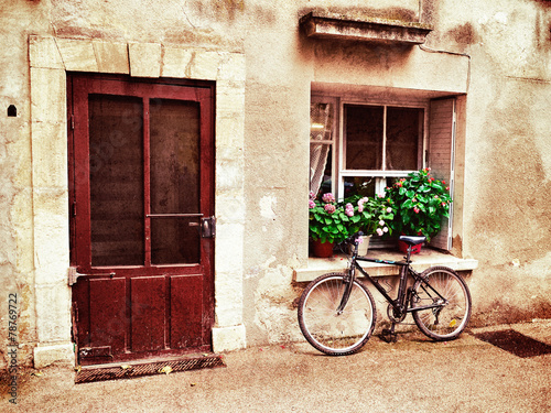 Tuinposter Fiets Provence, France