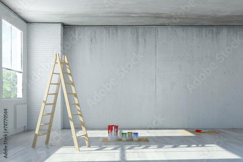 Poster Industrial geb. Renovierung von Büro in einem Loft