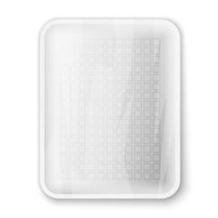Empty white food tray