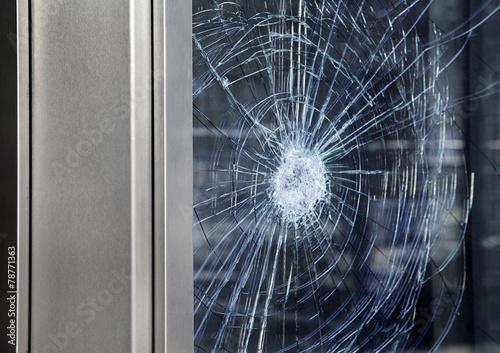 Leinwandbild Motiv Fensterscheibe