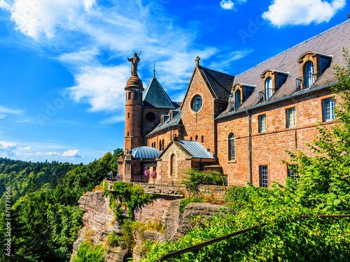 Foto op Aluminium Oude gebouw Saint Odilia Kloster, Schutzpatronin des Elsass