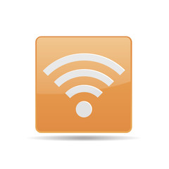 vector icon yellow icon wireless network signal strength