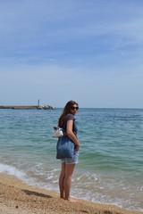 sulla spiaggia di numana