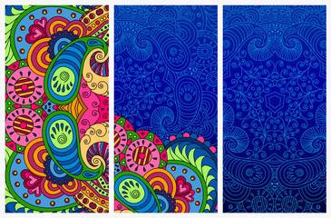 Set of decorative postcards.
