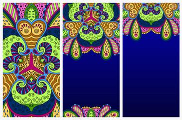 Set of colorful decorative postcards.
