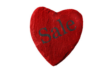 Rotes Herz mit Sale Schriftzug