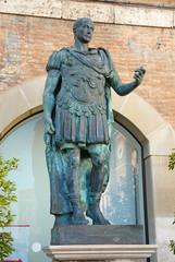 Rimini, Julius Cesar statue in the central tre martiri  square.