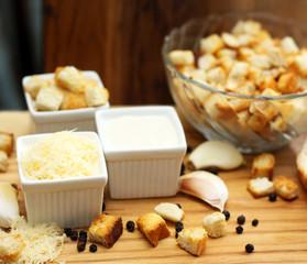 Cesar salad ingredients