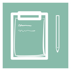 Notepad with pencil, Note icon