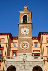 Italy, Rimini, clock tower in tre martiri square