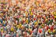 Leinwanddruck Bild - Menschenmengen-Miniatur