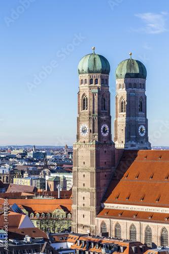 Leinwandbild Motiv The Frauenkirche is a church in the Bavarian city of Munich