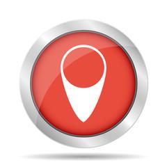 Map pointer flat icon, vector illustration. Flat design style