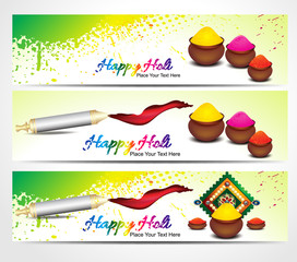 holi banner background