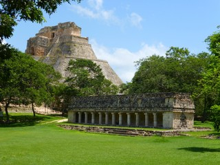 General view of Uxmal in Mexico