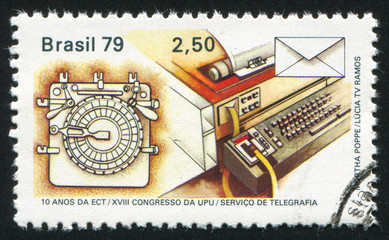Telegraph and telex machine