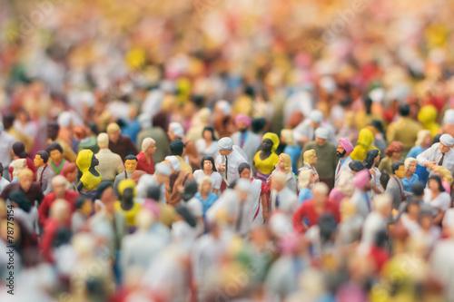 Menschenmengen-Miniatur - 78775154