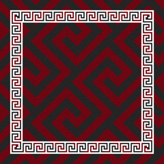 vector seamless Greek ornament, Meander
