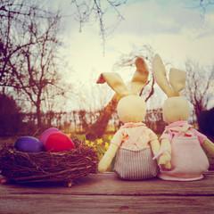 Osterhasenpaar - Vintage