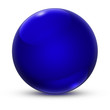 canvas print picture - Kugel Blau