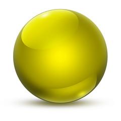 Kugel Gelb