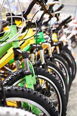 Bikes on bicycle parking