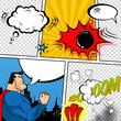 Vector Retro Comic Book Speech Bubbles Illustration. - 78778197