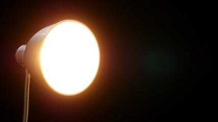 Floor luminescence lamp. 4K UHD footage.