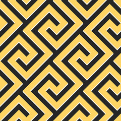vector seamless Greek ornament, Meander