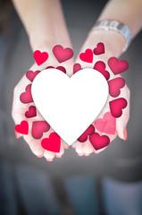 Spreading love concept